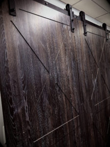 charred oak barn doors