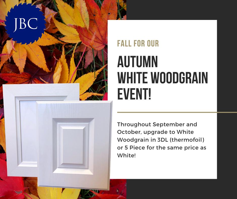 White Woodgrain Event